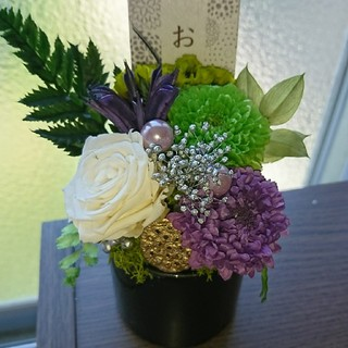 プリザーブド フラワーアレンジメント⭐お供え 仏花(プリザーブドフラワー)