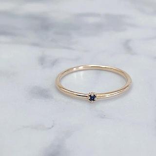 ノジェス(NOJESS)の美品 NOJESS ノジェス K10 ブラックダイヤモンドリング(リング(指輪))