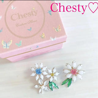 Chesty - Chesty ピアス フラワー  お花 ビジュー