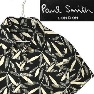 Paul Smith - 美品!日本製!Paul Smith ポールスミス ロンドン ブラックアロハシャツ