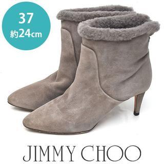 ジミーチュウ(JIMMY CHOO)のジミーチュー/ジミーチュウ  スウェード ショートブーツ 37(約24cm)(ブーツ)