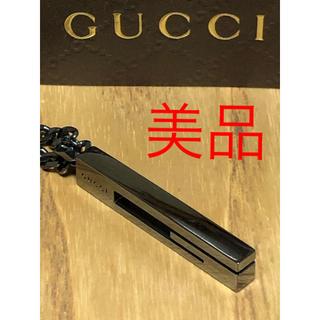 グッチ(Gucci)の正規品 GUCCI グッチ ネックレス シルバー G ラージ ブラック 喜平(ネックレス)
