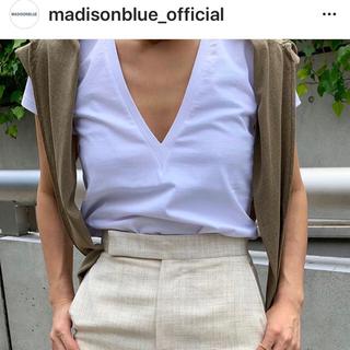 マディソンブルー(MADISONBLUE)のMADISON BLUE 定番DEEP V NECK TEE 新品未開封(Tシャツ/カットソー(半袖/袖なし))