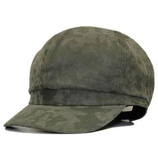 帽子 大きいサイズ ビッグ メンズ レディースキャスケット カモフラ グリーン(キャスケット)