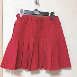 ウィゴー(WEGO)のプリーツスカート 赤(ミニスカート)