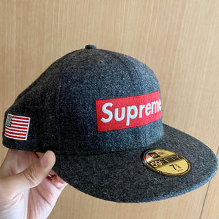 Supreme - New Era Woolrich Box Logo Cap