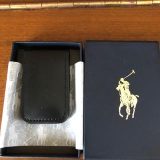 ポロラルフローレン(POLO RALPH LAUREN)のレザー マグネット式マネークリップ 財布(マネークリップ)