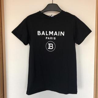 バルマン(BALMAIN)の値下げ♪新品BALMAINバルマン ロゴレディースTシャツM黒キッズサイズ14A(Tシャツ(半袖/袖なし))