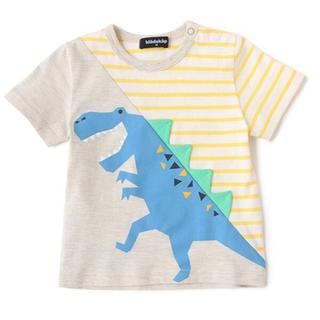 クレードスコープ(kladskap)の恐竜切り替えTシャツ(Tシャツ/カットソー)