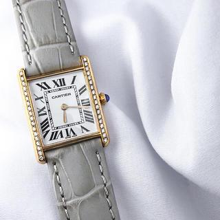 Cartier - 【仕上済】カルティエ タンク ゴールド ダイヤ レディース 腕時計