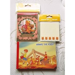 クマノプーサン(くまのプーさん)のDisney ディズニー くまのプーさん メモ帳 ふせん 付箋(ノート/メモ帳/ふせん)