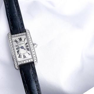 Cartier - 【仕上済】カルティエ タンクアメリカン ミニ ダイヤ レディース 腕時計