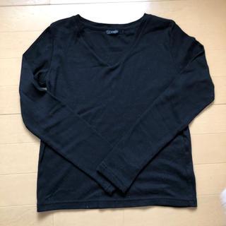 シマムラ(しまむら)のブラック☆Vネック☆カットソー(Tシャツ(長袖/七分))