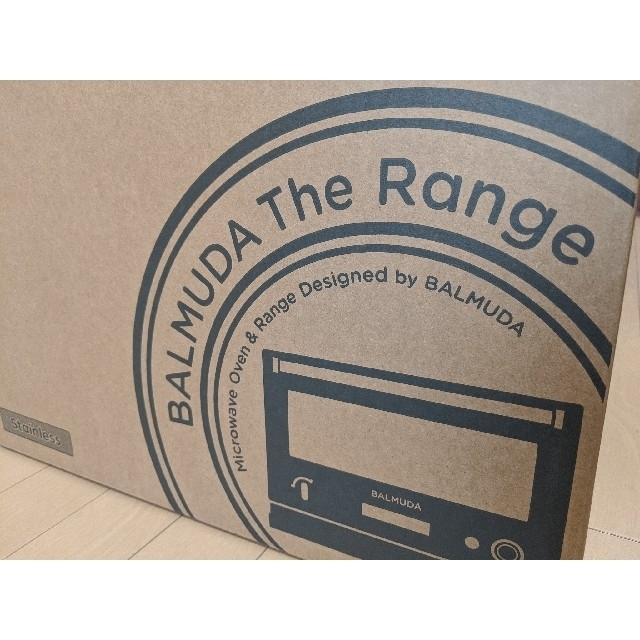 BALMUDA(バルミューダ)のBALMUDA The Range バルミューダ レンジ ステンレス 未使用品 スマホ/家電/カメラの調理家電(電子レンジ)の商品写真