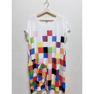グラニフ(Design Tshirts Store graniph)のグラニフ エルマー Tシャツワンピース(ひざ丈ワンピース)