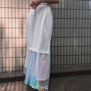 Ameri VINTAGE - AURORA LAYERED DRESS S オフホワイト