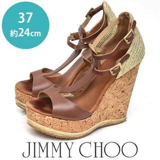 JIMMY CHOO - ジミーチュー/ジミーチュウ コルクウェッジソール サンダル 37(約24cm)