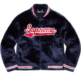 シュプリーム(Supreme)のsupreme Faux Fur Varsity Jacket(毛皮/ファーコート)