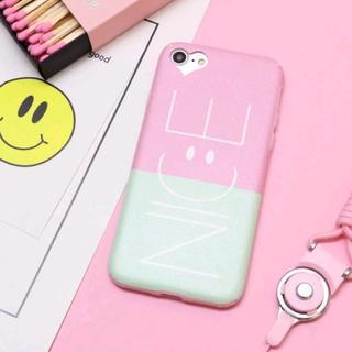ピンク iPhone7 iPhone8 ニコちゃん スマイルケース ハート(iPhoneケース)