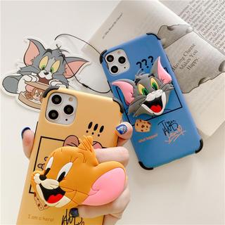 大人気ポップソケット付きトムとジェリーiPhoneケース(iPhoneケース)
