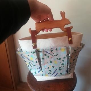 mina perhonen - アニマルモチーフ持ち手×ミナペルホネントートバッグ