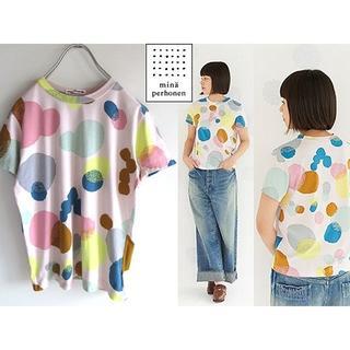 ミナペルホネン(mina perhonen)の美品 ミナペルホネン 16SS sunny candy カットソー 38(Tシャツ(半袖/袖なし))