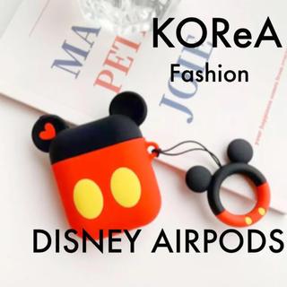 AirPods ケース エアーポッズ カバー ミッキー キーホルダー