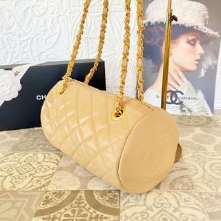 シャネル(CHANEL)の激レア✨美品✨シャネル 正規品 マトラッセ ドラム型 ミニボストン バッグ(ショルダーバッグ)