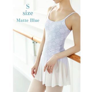 バレエ レオタード 花柄ソフトメッシュ スカート付 S size(ダンス/バレエ)