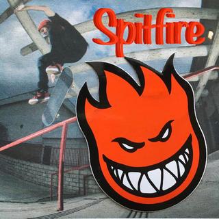 SPITFIREスピットファイアUS限定fireballアイコンステッカー1点物(スケートボード)