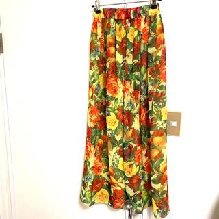 ジョイリッチ(JOYRICH)のJOYRICH ジョイリッチ ロング スカート 柄 花柄 ウエストゴム フリー(ロングスカート)
