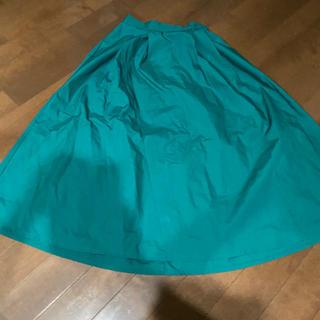 ジーユー(GU)のGU カラー ロング スカート グリーン S(ロングスカート)
