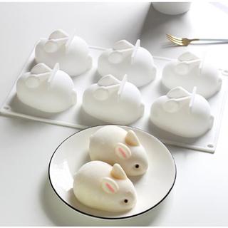 訳あり シリコン型  立体 うさぎ 焼き型 6個(調理道具/製菓道具)