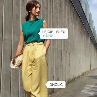 LE CIEL BLEU - ルシェルブルー  ノースリーブ  ニット グリーン 緑