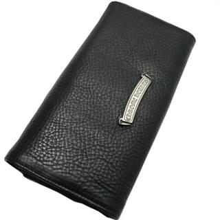 クロムハーツ(Chrome Hearts)のクロムハーツ 財布 ジュディ・ブラック・ヘビーレザー(長財布)