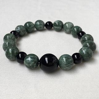 魔除けと癒しの石で深い安心感を与えるパワーストーンブレスレット/セラフィナイト(ブレスレット/バングル)