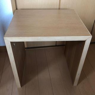 無印良品 コの字の家具 タモ材 幅35cm(コーヒーテーブル/サイドテーブル)