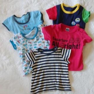 ナルミヤ インターナショナル(NARUMIYA INTERNATIONAL)の半袖Tシャツ 肌着 5枚セット(Tシャツ)
