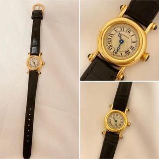Cartier - カルティエ 腕時計 ミニ ディアボロ K18YG 18K イエローゴールド 黒