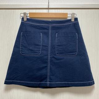 韓国ファッション ミニスカート 台形スカート Aラインスカート(ミニスカート)
