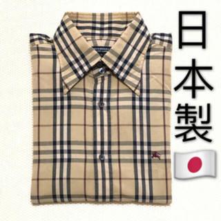 BURBERRY - 日本製 バーバリーブラックレーベル 長袖シャツです