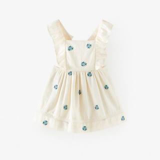 ZARA KIDS - 【完売】ZARA ストラップ付き刺繍スカート ザラベビーガール babygirl