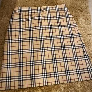 BURBERRY BLUE LABEL - BURBERRY BLUE LABEL ボックススカート