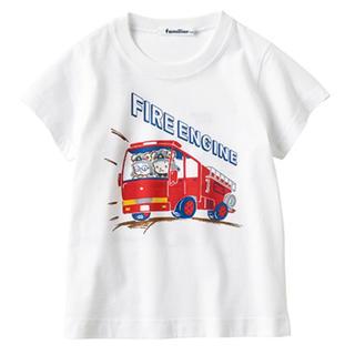 ファミリア(familiar)のファミリア おはなしTシャツ 消防車 100(Tシャツ/カットソー)