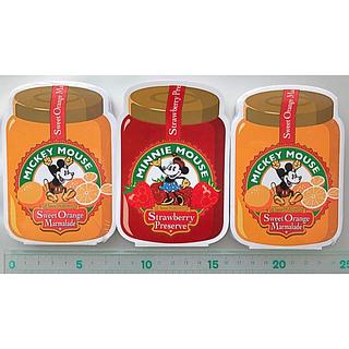 Disney - 新品 ミッキー  ミニーマウス ジャム瓶ダイカットメモ帳 3個セット×90シート