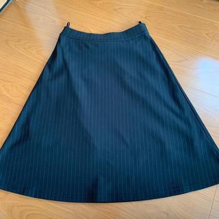 Aライン ブラック スカート(ひざ丈スカート)