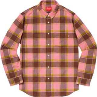 Supreme - 【L】Supreme Plaid Flannel Shirt pink