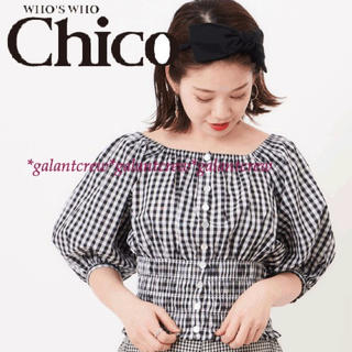 who's who Chico - 【新品】who'swhoChicoフーズフーチコ★スクエアシャーリングブラウス