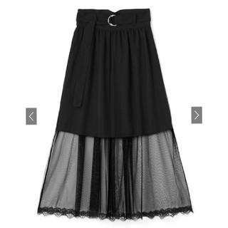 GRL - グレイル♡GRL♡ベルト付き裾レースチュールスカート♡Mサイズ♡新品タグ付き