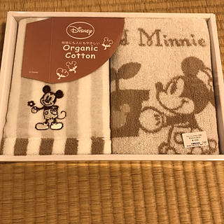 ディズニー(Disney)の⭐︎箱入りミッキーマウスウォッシュタオル2枚入り⭐︎(タオル/バス用品)
